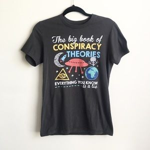 Means size small conspiracy theory t-shirt
